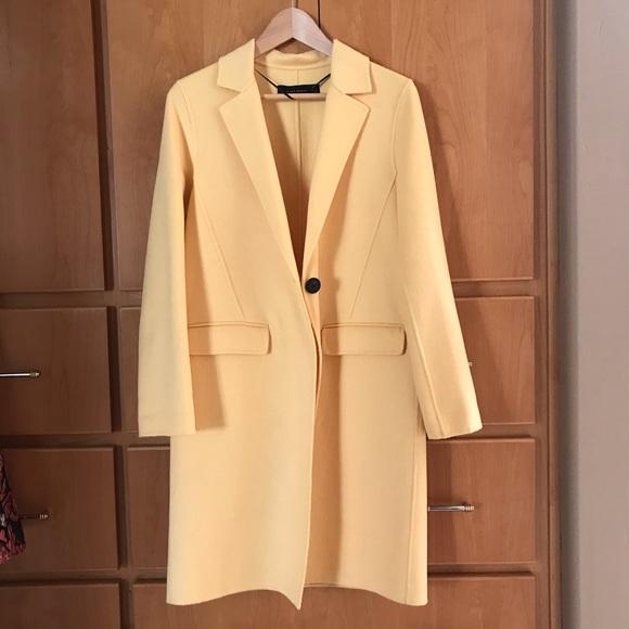 Zara Jackets & Blazers - Zara yellow wool coat XS